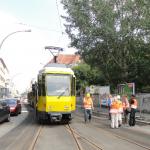 August 2011 Fahrleitungsmessung