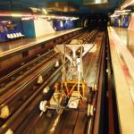 Mai 2013 Lichtraumprofilmessung und Koordinaten im Tunnel