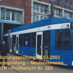 März 2003 Fahrleitungsmessung
