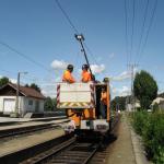 Juli 2009 Fahrdrahtverschleissmessung